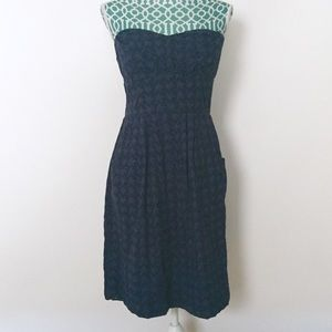 Anthro Girls from Savoy Navy Eyelet Dress